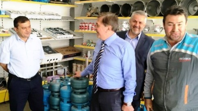 Başkan Çetin den Esnaf Ziyareti