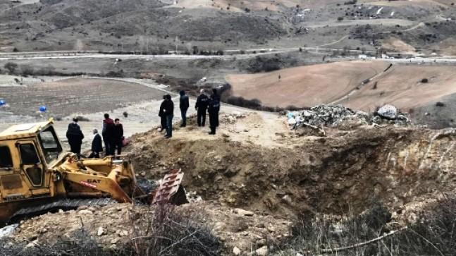 Pursaklar'da Definecilerin Kazdığı Yer Kapatıldı