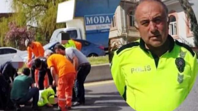 Otomobilin çarptığı polis şehit oldu